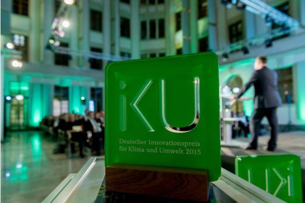 Das Bild zeigt den IKU (Deutscher Innovationspreis für Klima und Umwelt) 2015.