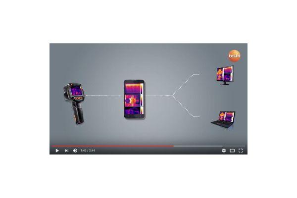 Screenshot eines Videos über Wärmebildkameras und ihre Funktionen.