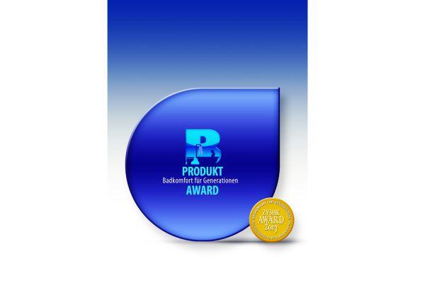 Das Bild zeigt das Logo des Produkt-Awards des ZVSHK.