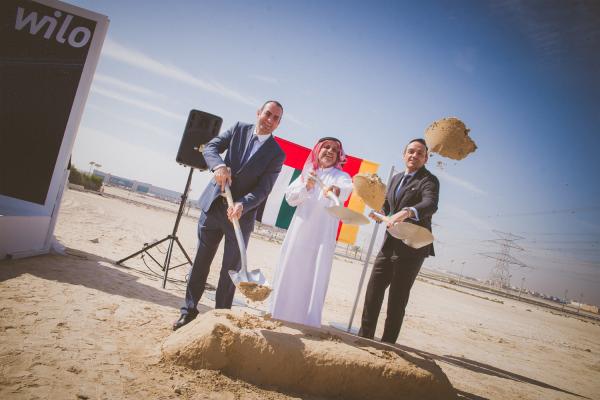 Grundsteinlegung in Dubai