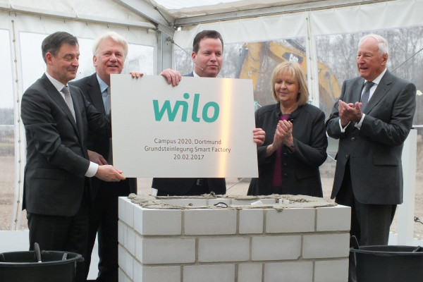 Wilo legt Grundstein für 100 Millionen Euro Invest in Dortmund
