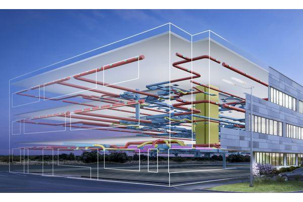 Ein Gebäudemodell.