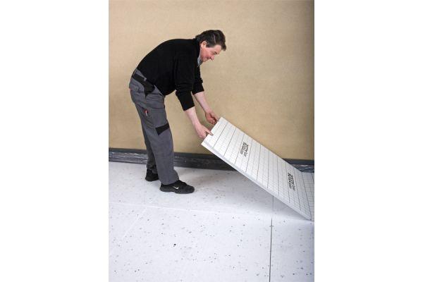 Verlegeplatten mit Wärmedämmung für die Fußbodenheizung