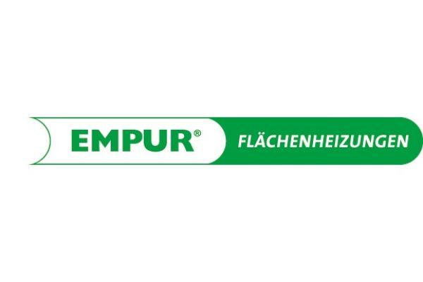 Das Logo der Empur-Flächenheizungen.