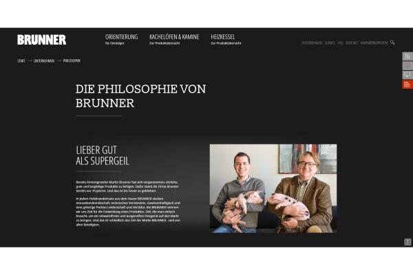 Brunner präsentiert sich mit komplett überarbeiteter Webseite