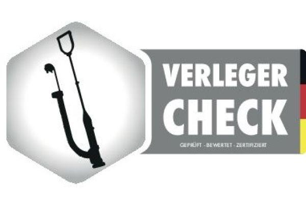 Das Logo des Verlegerchecks.