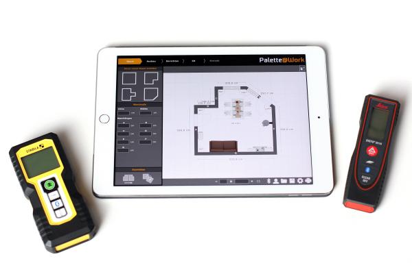 Palette CAD entwickelt Tablet-App für fehlerfreie Laser-Aufmaße