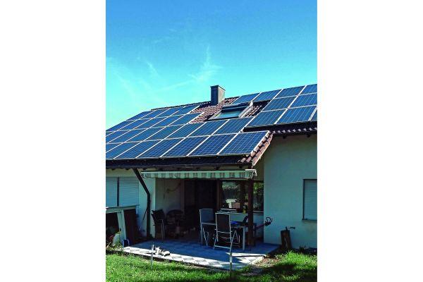 Die Photovoltaik-Anlage auf dem Haus der Familie Recktenwald.