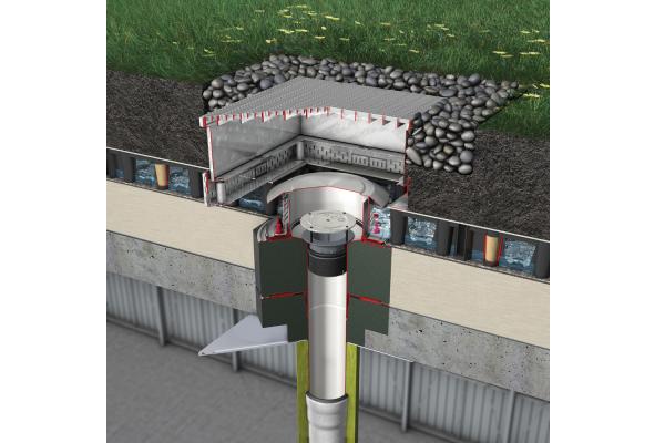 Dachentwässerung: Neuer Retentionsaufsatz von ACO Haustechnik