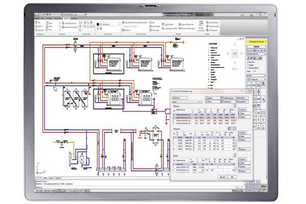 "Software ""Viptool Engineering"" mit Modul Heizungsrohrnetzberechnung"