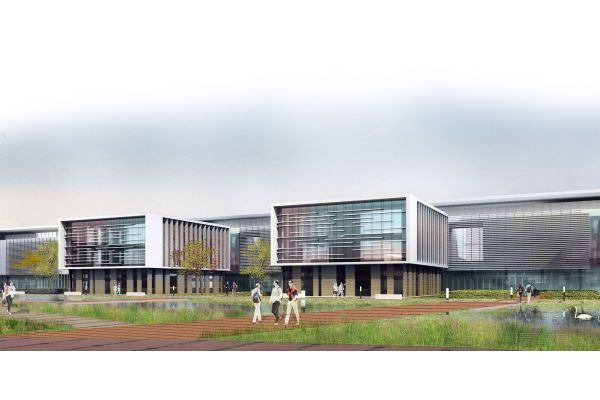 Grafik des fertigen Thales-Campus.
