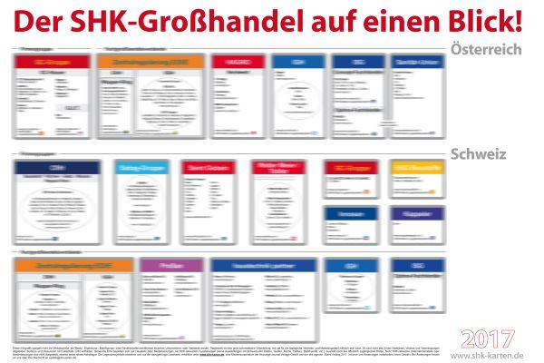 Die Infografik über den SHK-Fachgroßhandel in Österreich und der Schweiz.