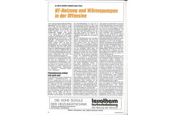 Die erste Seite des Artikels