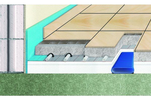 Schema eines Kunststoff-Flachkanalnetz aus der