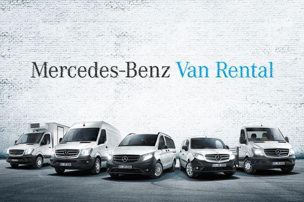 Verschiedene Miet-Vans von Mercedes-Benz Van Rental.