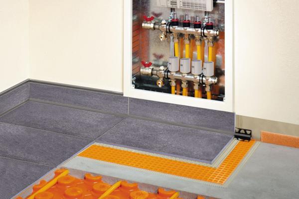 Energiesparende und dünnschichtige Fußbodenheizung