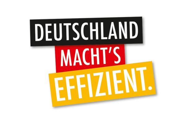 Das Logo der Kampagne Deutschland macht's effizient.