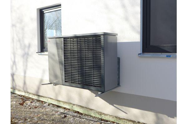 Das Außengerät der Luft/Wasser-Wärmepumpe