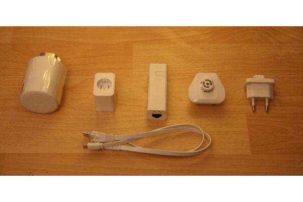 Der Inhalt des Smart Thermostat Starter Kits von tado°.