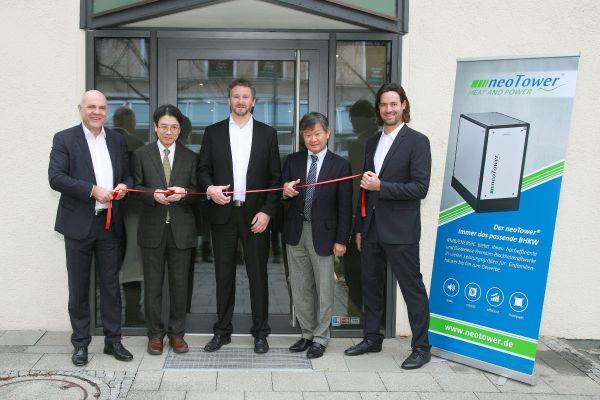 Mitarbeiter und Geschäftsführer bei der Einweisung der RMB/Energie-Niederlassung in Rosenheim.