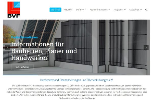 BVF überarbeitet Homepage