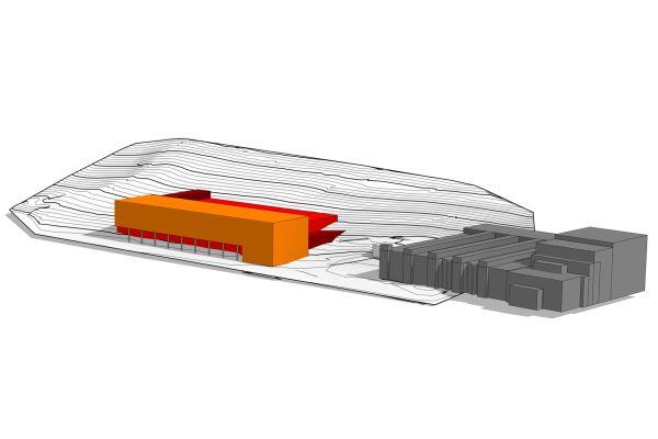 Modell des Entwicklungszentrums von ebm-papst.