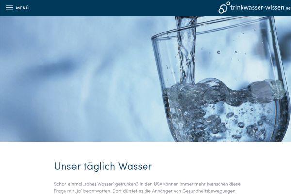 Das Bild zeigt den Screenshot der überarbeiteten Website.