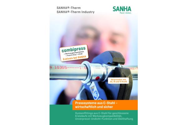 """Neue Broschüre zu Presssystem """"Sanha-Therm"""""""