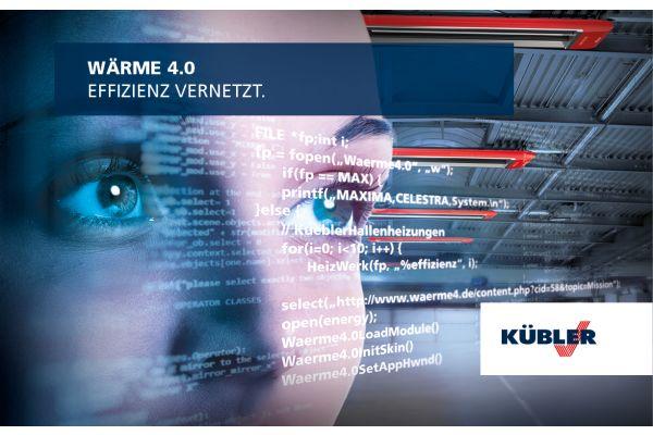 Key Visual der Kübler GmbH für die Strategie WÄRME 4.0.