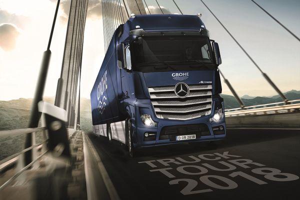 Das Bild zeigt den XXL-Truck von Grohe.