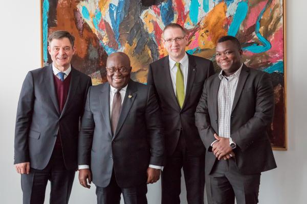Ghanas Staatspräsident zu Gast bei Wilo