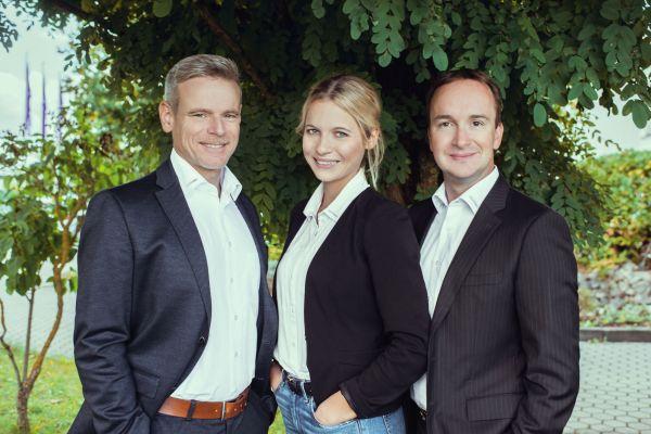 Das Bild zeigt Andreas Molitor und seine Kollegen Annika Klink sowie Stephan Schreck.