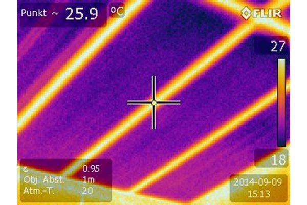 Wärmebild der Kapillarrohrmatten.