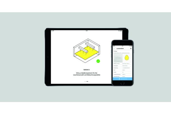 """DIALux Mobile"": Lichtplanung mit dem Smartphone"