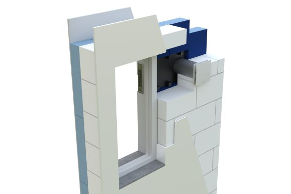 Laibungselement des dezentralen Lüftungsgeräts