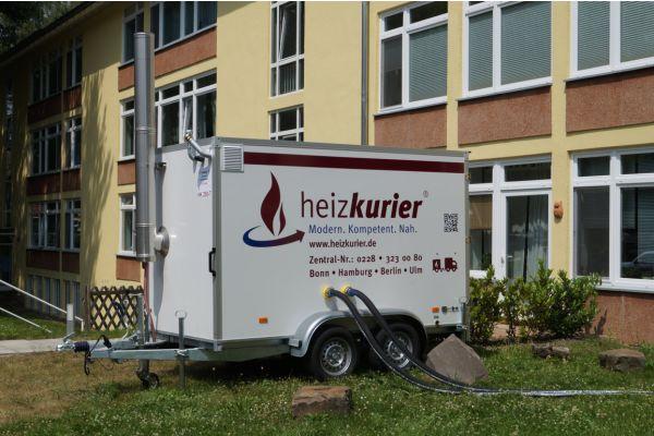 Mobile Heizzentrale von Heizkurier.