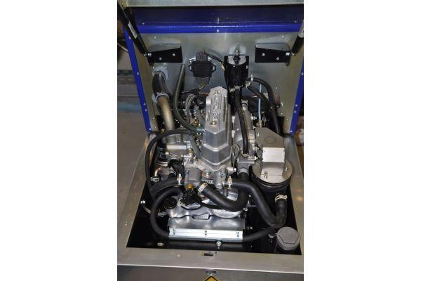 Motor eines Blockheizkraftwerks.