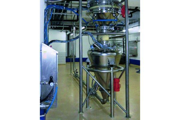 Ein pneumatischer Förderer für die Chemie-, Pharma- und Lebensmittelindustrie.