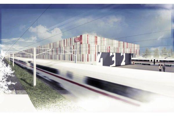 Die neue Instandhaltungshalle der Deutschen Bahn in Köln-Nippes.