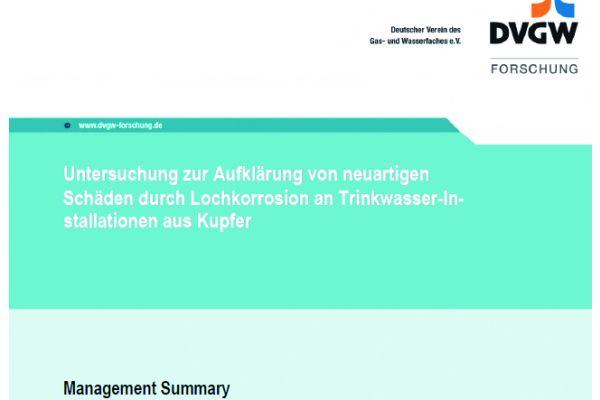 DVGW-Untersuchungsbericht vom 17. September 2017. Bemerkenswert der Titel: Von neuartigen Schäden ist die Rede. (www.dvgw.de/index.php?)