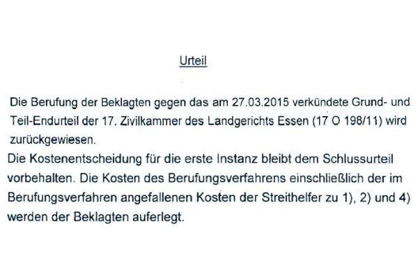 Das Urteil des OLG Hamm.