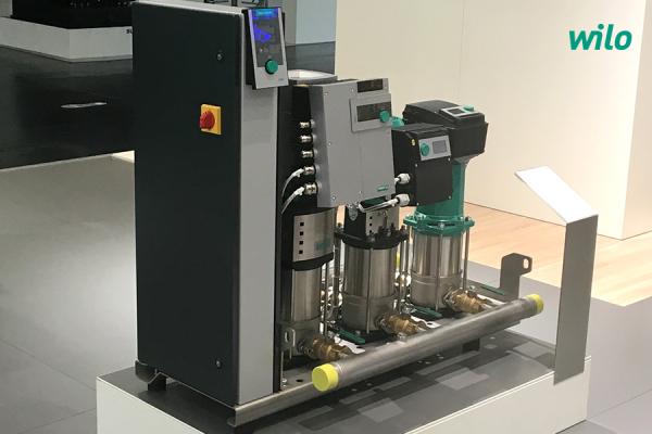 Eine Druckerhöhungsanlage mit drei unterschiedlichen Pumpenbaureihen