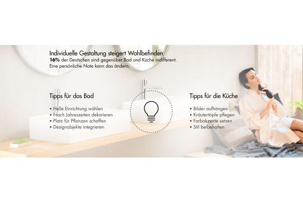 Tipps für die persönliche Note in Bad und Küche.