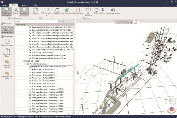Ein CAD-3D-Gebäudemodell.