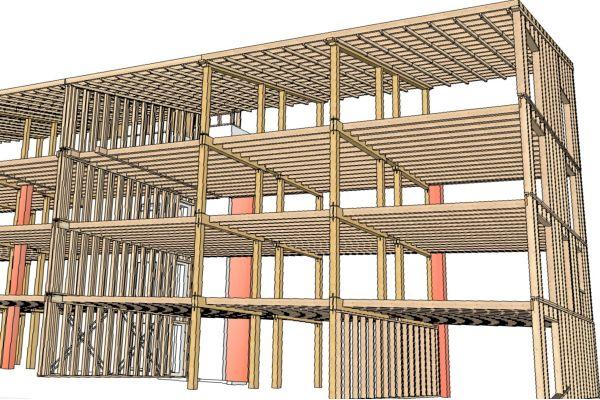 Tragkonstruktion des Mehrfamilienhauses