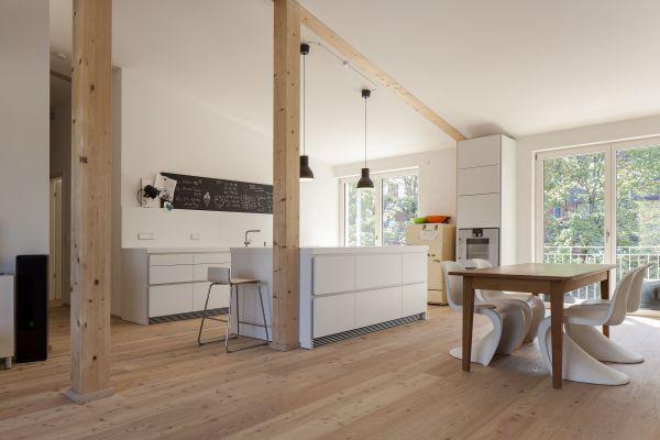 Eine Wohnung im Mehrfamilienhaus