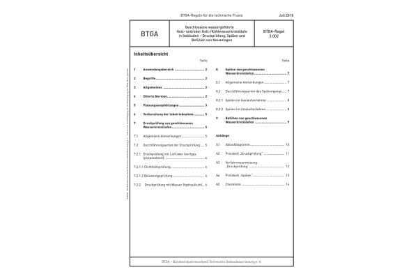 Überarbeitete BTGA-Regel 3.002