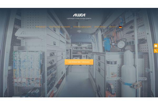 Screenshot von der Aluca-Website.