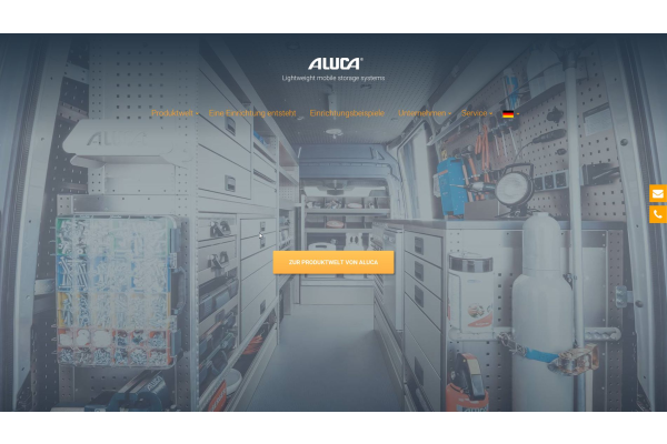 Aluca relauncht Website