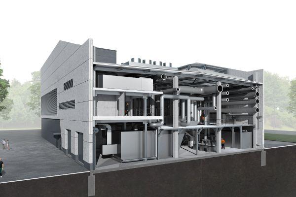 BIM-Modell eines Hauses.